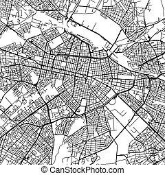 Sofia Bulgaria Vector Map