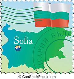 Sofia - capital of Bulgaria. Stamp