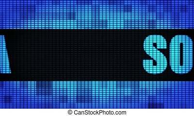 SOFIA Front Text Scrolling LED Wall Pannel Display Sign...