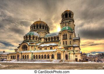 sofia, nevsky, alexander, bulgarien, kathedrale
