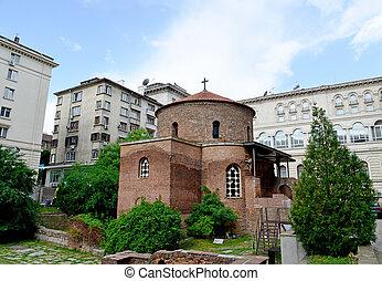 sofia, santo, iglesia, george, más viejo, bulgaria
