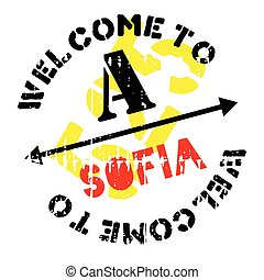 Sofia stamp rubber grunge - Sofia stamp. Grunge design with...
