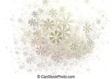 Soft abstract floral fractal background