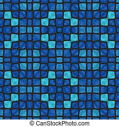 Soft and dark blue mosaic pattern