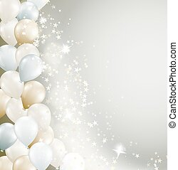 soft background with flowing stars and balloons