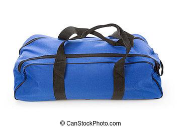 soft bag - blue soft bag with white background