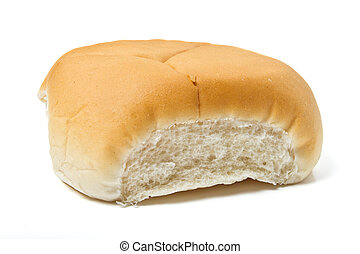 Soft bap - Soft white bap bread roll used for a sandwich ...