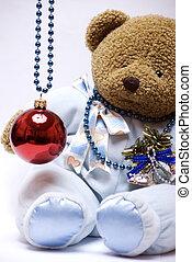 Soft bear with Christmas ball