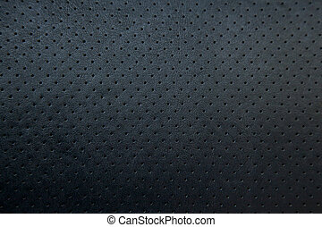 soft Black Perforated Leather texture background
