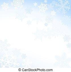 Soft Blue Snowflake Background