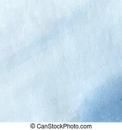 Soft blue watercolor design background. Vector illustration.