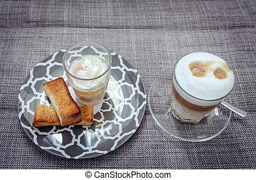 Soft-boiled eggs with toast