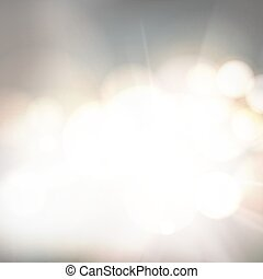 Soft bokeh and lights. Abstract shining space futuristic background. Fasion golden background. Bokeh light circles over gray backdrop.