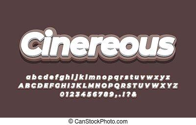 soft brown color 3d text effect