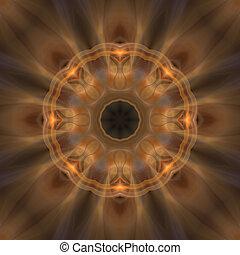 Soft Brown Mandala Background