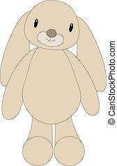 Soft bunny toy animal