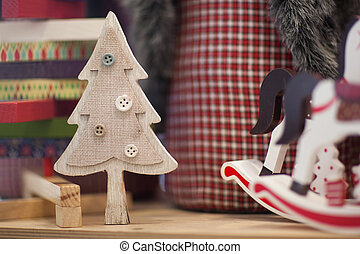 soft Christmas toys and decorations