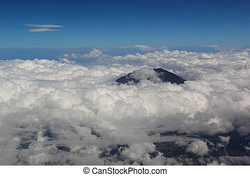 Soft clouds over view