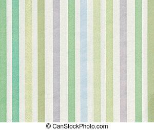 soft-color, bakgrund, med, färgad, lodlinje galon, (shades, av, grön, och, blue)