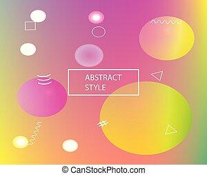 Soft color gradient background.