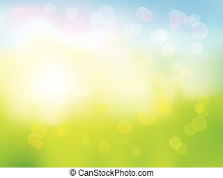 Soft colored abstract background - Vector illustration of...