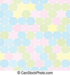 Soft colored seamless pattern with circles. Abstract geometrical background.
