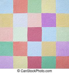 Soft colors squares balance