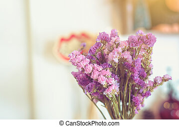 Soft Dried Purple color flowers background