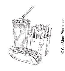 Soft Drink in Plastic Cup Set Vector Illustration