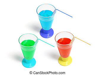 Soft Drink in Plastic Cups