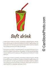 Soft Drink Isolated on White Vector Illustration