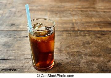 Soft drink on wood table. - soft drink on wood table,...