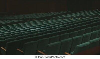 Soft empty seats in big concert hall