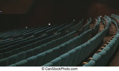 Soft empty seats in big concert hall