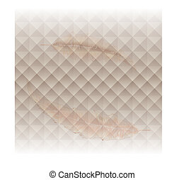 Soft feather design on abstract background
