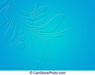 Soft Floral Blue Background