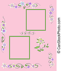 soft flowers scrapbook