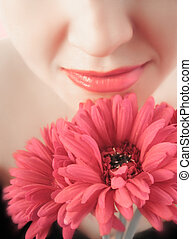 soft flowers - smelling the flowers (purposely softened for...