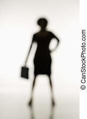 Soft focus businesswoman. - Soft focus silhouette of...