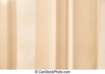 Sunlight passing through a curtain, soft focus background