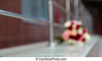 Soft focus wedding bouquet, flowers