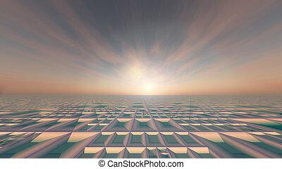 Soft Grid Technology Sun Background