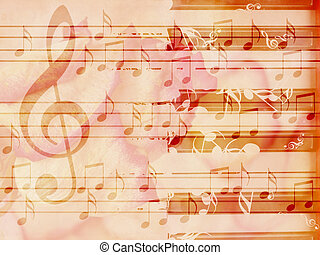 Soft grunge music background with piano