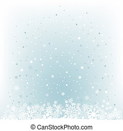 The white snow on the cerulean mesh background, winter theme. No transparent objects