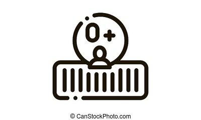 Soft Orthopedic Mattress Icon Animation. black Soft Orthopedic Mattress animated icon on white background