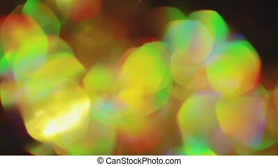 Soft particles qarm hues abstract looping creative background.