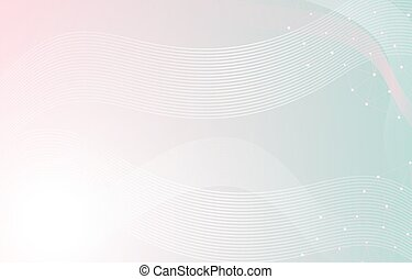 Soft Pastel Dynamic Line Wavy Background Abstract Shape Composition