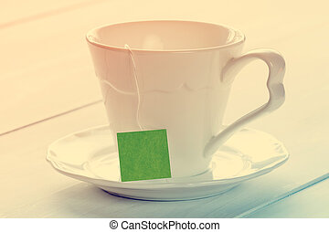 Soft pastel still life with teacup
