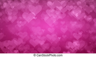 Soft Pink Background With Hearts. Valentines Day Concept