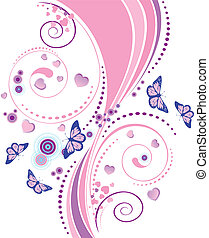 Soft pink floral ornament